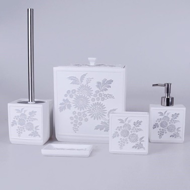 Rekabet Pazarı Selim Luissa Beyaz Gümüş Banyo Seti Beyaz